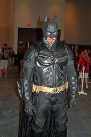 Bill France dressed as Batman for the event.