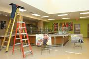 Finishing touches are being done to Metropolitan Ministries' new dining area.