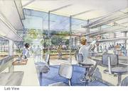 A rendering of the proposed lab expansion at the Danforth Plant Science Center.