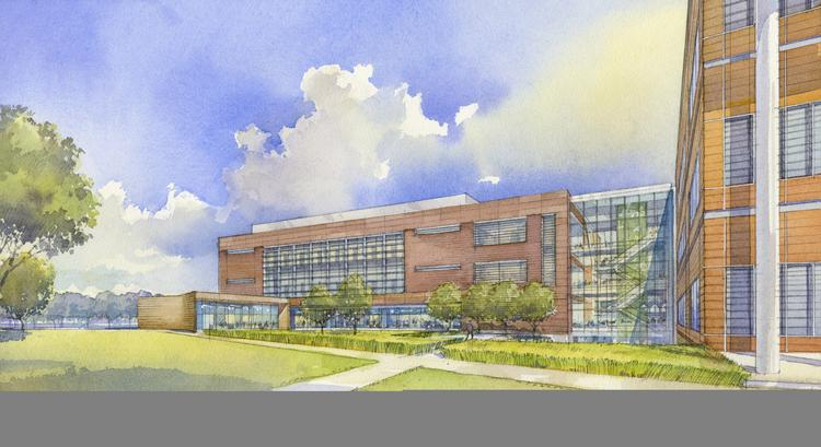 A rendering of the exterior of the proposed expansion at the Danforth Plant Science Center.