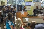 Ryan Seacrest makes the inaugural broadcast from within Seacrest Studios at the Levine Children's Hospital.
