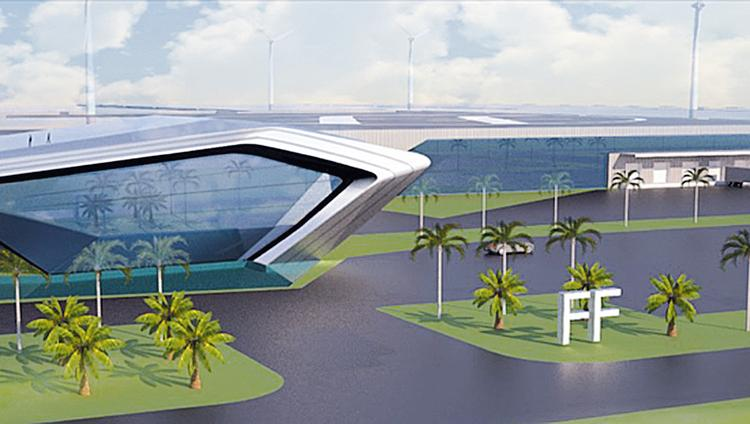 A Rendering Of Car Factory Proposed For Sacramento Calif By Startup Faraday