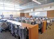 A science classroom in the new science center at Hudson Valley Community College