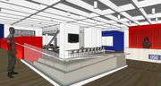 The ramp and check-in desk at the future USO Northwest center at Seattle-Tacoma International Airport are shown in this rendering. Last year the center greeted 121,000 service members.