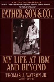 "Father, Son & Co.: My Life at IBM and Beyond By Thomas J. Watson and Peter Petre Amazon link Amazon's description: ""In this eloquent first-person account of a family drama that changed the face of American business, the man who transformed IBM into the world's largest computer company reflects on his lifelong partnership with his father--and how their management style and shared dedication to excellence united to create a unique corporate culture that became the blueprint for the entire technology boom.  In the course of sixty years Thomas J. Watson Sr. and his son, Thomas J. Watson Jr., together built the international colossus that is IBM. This is their story: a riveting and revealing account of two men who loved each other--and fought each other--with a terrible fierceness.  But along with the story of a father and son, this is IBM's story too. It chronicles the management insights that shaped its course and its unique corporate culture, the style that made Thomas Watson Sr. one of America's most charismatic bosses, and the daring decisions by Thomas Watson Jr. that transformed IBM into the world's largest computing company."""