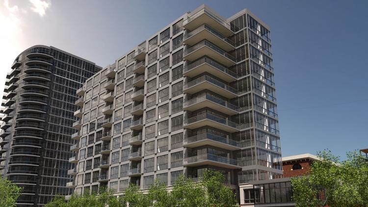 Nationwide Realty is bringing its Parks Edge condominium complex to the Arena District. The project will feature one-, two-, and three-bedroom units, plus a garage with a pool on top.