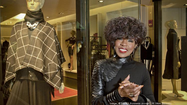 Ophelia Bakon, owner of Nouveau Fashion Gallery at Copley Place.