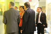U.S. Secretary of Commerce Penny Pritzker and others tour the Nanocollege's $18 billion complex including its 300mm cleanroom and new 450mm cleanroom in the NanoFab Xtension building.