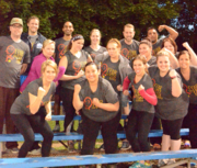 Advanced Ear, Nose & Throat Specialists employees at a kickball game.