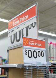 All the price signs are set to zero when they come new to the store.