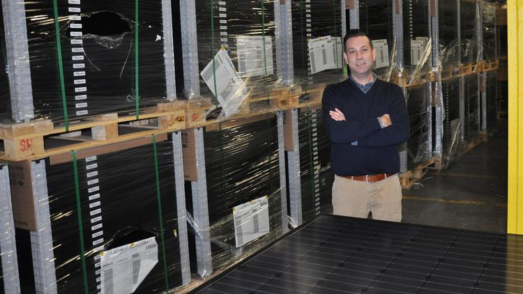 Allen Kintz is the co-founder of Captech Logistics in Rotterdam, New York. The company is preparing to double its space after signing a contract to serve as the East Coast distribution hub for a German solar panel supplier.