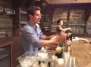 Renowned bartender Paul Sanguinetti mixes Pisco sours at the Tastemade app launch party.