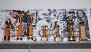 Shelves are lined with trophies and signed memorabilia from the various ISC tracks across the country.