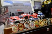 Memorabilia from Wood Brothers Racing is displayed in the library and in several parts of the archive. Members of the team have visited the archive on several occasions.