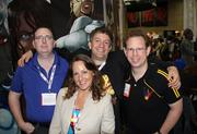 The Red Giant Entertainment Inc. key players, from left to right, at the San Diego Comic-Con: CEO Benny Powell, Director and Chief Business Development Officer Aimee Schoof, Director and Chief Intellectual Property Officer Isen Robbins and COO David Campiti
