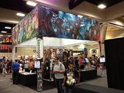 The Red Giant Entertainment booth at the San Diego Comic-Con
