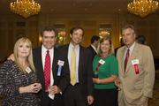 From left to right: Angie Tiffany; award winner Bart Tiffany, the CFO of Landmark Builders of the Triad; and William Smith, Donna Perkins and Weston Andress of PNC Bank, one of the sponsors of the event.