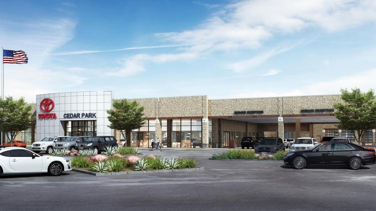 Rendering Of Planned Cavender Toyota Cedar Park Dealership