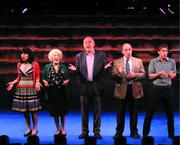 "The cast of the Off-Broadway edition of ""Old Jews Telling Jokes,"" which celebrates its 500th performance tonight."