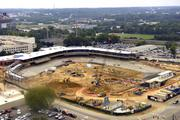 Here is the ballpark as seen from the 14th floor of the nearby Carillon Building.