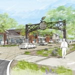 Commercial part of The Cannery in Davis coming into focus