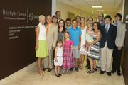Karen Lytle, at far left, and Chuck Lytle, next to her, participated with their family in opening ceremonies for the Lytle Center for Pregnancy and Newborns at Swedish's First Hill hospital in Seattle.