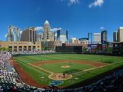 This early rendering shows what the ballpark will look like during games.