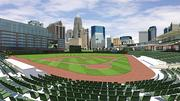 Rendering of BB&T Ballpark, as seen from the stands behind home plate.