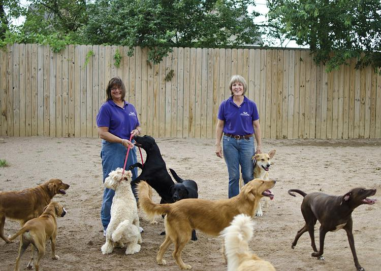 """Who let the dogs out? A tired dog is a happy dog. That's the way they look at it at Almost Home Boarding + Training LLC.  """"We want (dogs) excited — knowing they're coming to play. And (we) want them excited to see you at the end of the day, going home dirty and tired,"""" said Kathy Schultz, co-owner of Almost Home. The business has a program called """"Dog Day Out,"""" which is a day-care program for dogs to socialize and play in groups under supervision. About 60 dogs participate on a daily basis Monday through Friday. A full day of Dog Day Out costs $22. The cost for a half day is $12.  """"We first thought day-care would be inside, but then realized we have something other places didn't — big outdoor yards,"""" Schultz said. The two spaces combined total 8,000 square feet.  """"Clients like their dogs getting fresh air, and being outside tires them out quickly."""" ____________________________________________      Almost Home Boarding + Training LLC Business: Boarding, training and Dog Day Out doggie day-care  Address: 1219 Dorsey Lane Owners: Katie Peckenpaugh and Kathy Schultz Employees: Seven full-time and four part-time  Revenue breakdown: Dog Day Out, 30 percent; boarding, 45 percent; training, 20 percent; grooming, 5 percent   Established: October 2010 Phone: (502) 384-8484 Web site: www.almosthomeboardingandtraining.com"""