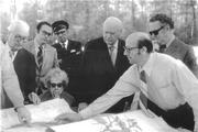 1963 Mitchell & Mitchell begin buying up some 25,000 acres off Interstate 45 north of Houston, with a vision of creating a new suburban community -- named the Woodlands in 1968.