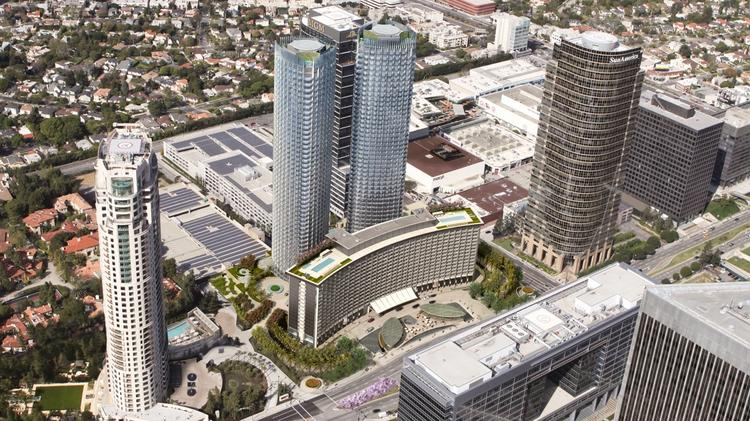 $2.5 billion Century Plaza Hotel and adjoining development including two 46-story towers to start March 1.