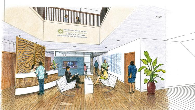 A Rendering Of One Of The Upgrades Planned For The UH Manoa William S.  Richardson