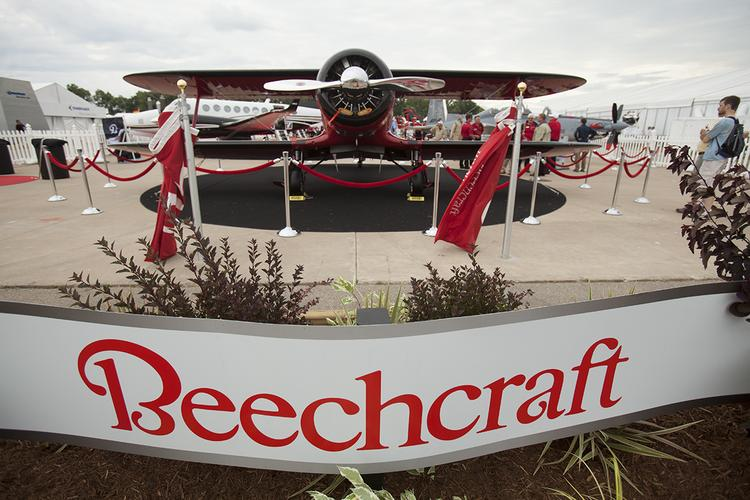 Beechcraft Corp., said to once again be on the market, is attracting interest from three primary suitors, according to a report from Bloomberg.