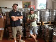 Brewery employee Gus Criado and owner Jake Kristophel. Full Pint Brewing has a four owners and three employees. Three of the owners joined to open Full Pint after working at other local breweries, with Kristophel previously working at North Country Brewing in Slippery Rock. The other owners are: Barrett Goddard, a veteran of nearby Rivertowne Pour House; Sean Hallisey, who was head brewer at the former Johnstown Brewing Co.; and Mark Kegg, an entrepreneur who helped Full Pint get off the ground while owning other businesses.