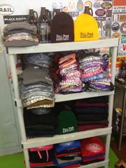A full range of available merchandise at Full Pint Brewing.