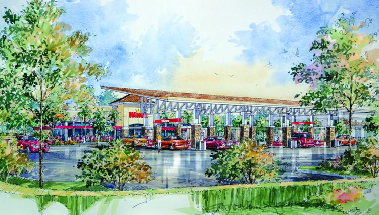 A rendering of the Wawa that will be built in Sunrise.