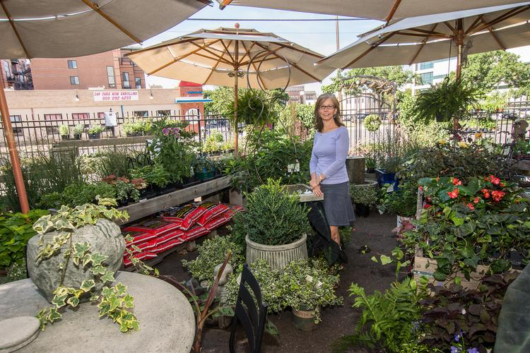 Diane Stahl is owner of Urban Roots, which stocks urban gardening supplies and has several commercial clients. She said they also consider the green space aesthetics to be an employee benefit.
