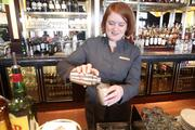 Bar manager Heather Culbertson makes the restaurant's signature drink, a Stoli Doli.