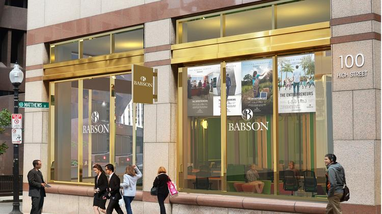 Rendering Of Planned Babson College Location In Downtown Boston