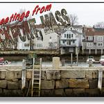 What holiday rush? Images of a New England seaside town in December