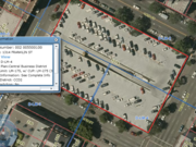 The site is zoned for general commercial usage and could be a hotel, office or mixed-use residential.