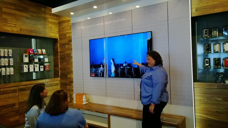 AT&T's store of the future is debuting in La Grange, a suburb of Chicago.