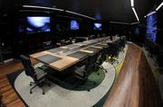 A formal board room, adorned with flatscreens, will be used for a bevy of meetings.