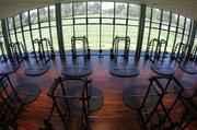 The two-story weight room will surely be a popular place for players to train.