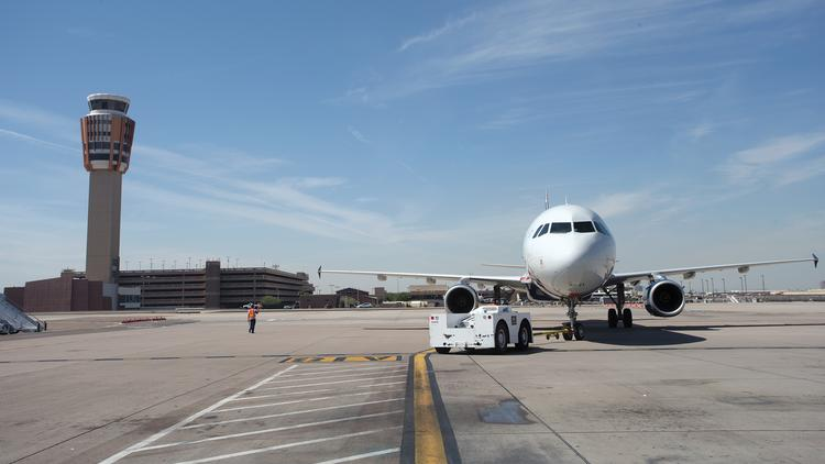 Some bus drivers have gone on strike at Phoenix Sky Harbor International Airport.