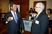 Joe DiLorenzo of Morgan Samuels and Greg Starr of Accounting Management Solutions socialize during the networking portion of the Boston Business Journal's CFO Awards luncheon held at the Back Bay Sheraton.