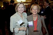 TD Bank's Eileen Murphy met up with former boss, but longtime friend Amy Averbach of the Boston Children's Museum at the Boston Business Journal's CFO Awards luncheon.