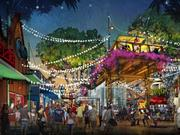 Disney Springs will blend the familiar with the unexpected throughout its four outdoor neighborhoods including the West Side (as shown in this conceptual rendering) which will provide an exuberant atmosphere with lively entertainment, along with a series of new elevated spaces that provide both shade and an overlook to the activity below.