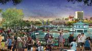 As part of Disney Springs, the family-friendly Marketplace (as shown in this conceptual rendering) will continue to delight guests of all ages and include new experiences, such as an over-the-water pedestrian causeway.