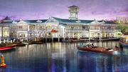 Inviting and infused with character, Disney Springs will feature four outdoor neighborhoods including The Landing (as shown in this conceptual rendering) which offers inspired dining, retail and beautiful waterfront views.